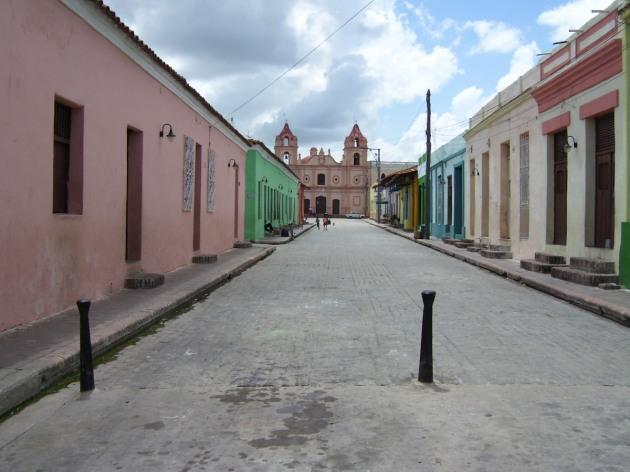 Una de las plazas de Camagüey